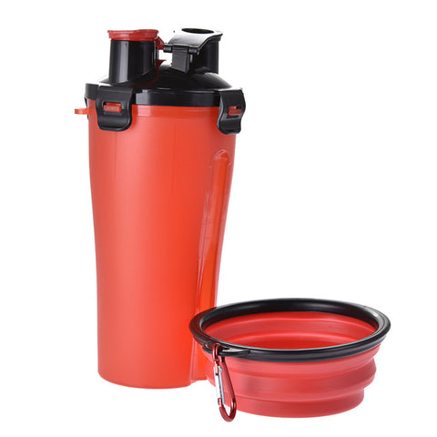 Genius Portable Food And Water Container + Foldable Dog Bowl