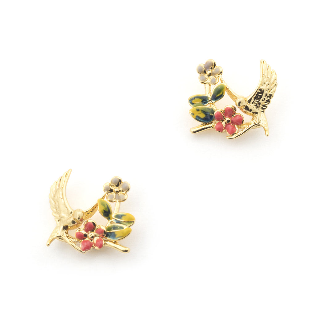 Swallow bird earring