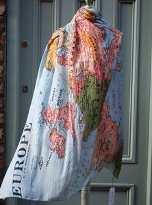 Europe Map Scarf one hundred stars