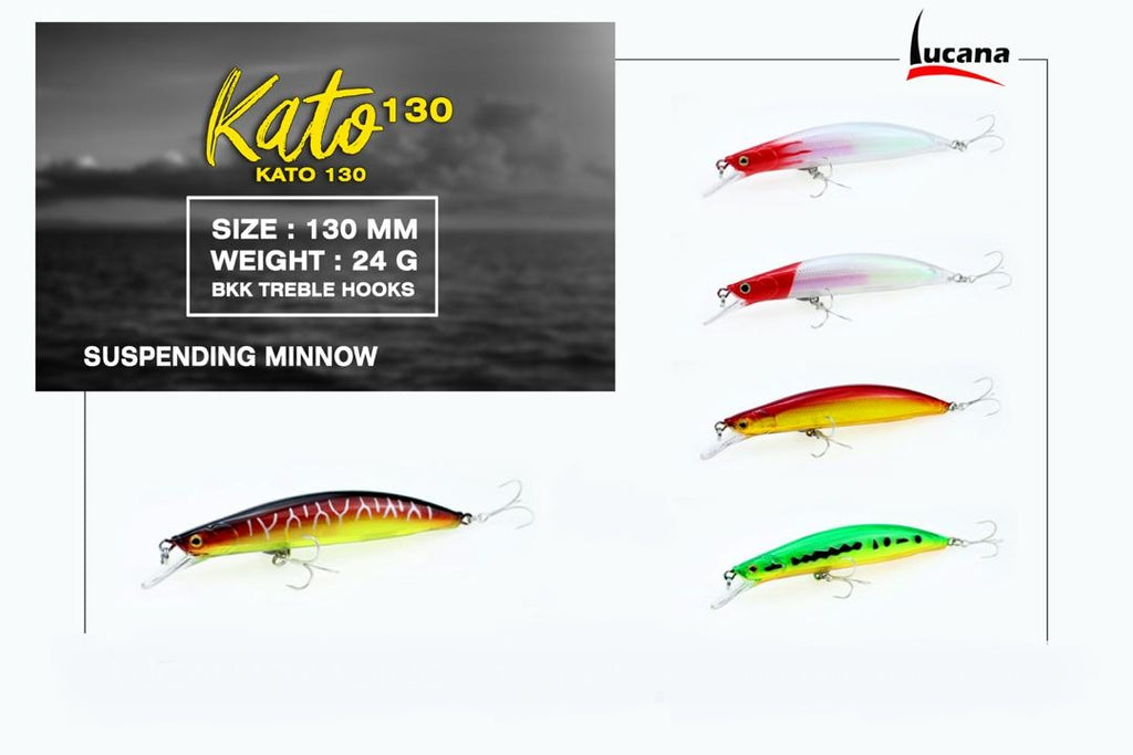 Lucana Kato 130 Hard Lure 13cm/21g, 1pcs/pkt, Hard Baits, Lucana, Cabral Outdoors - Cabral Outdoors