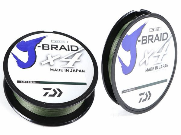 DAIWA J-BRAID X4 Dark Green 135M | 0.21mm, 0.25mm, 0.29mm, 0.33mm, 0.36mm braid line, Braided Line, Daiwa, Cabral Outdoors - Cabral Outdoors