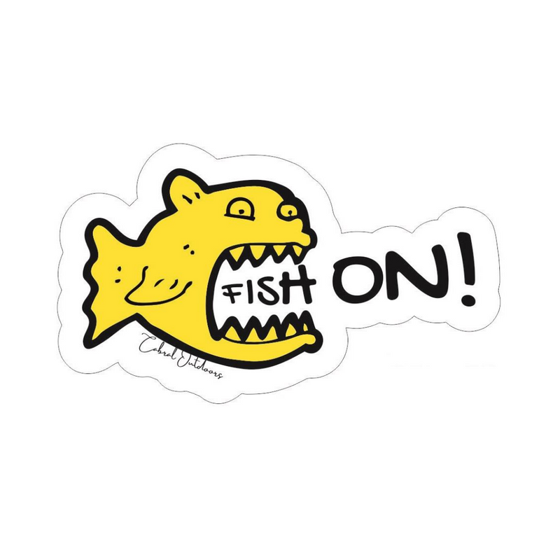 Fish On! Stickers, stickers, Cabral Outdoors, Cabral Outdoors - Cabral Outdoors