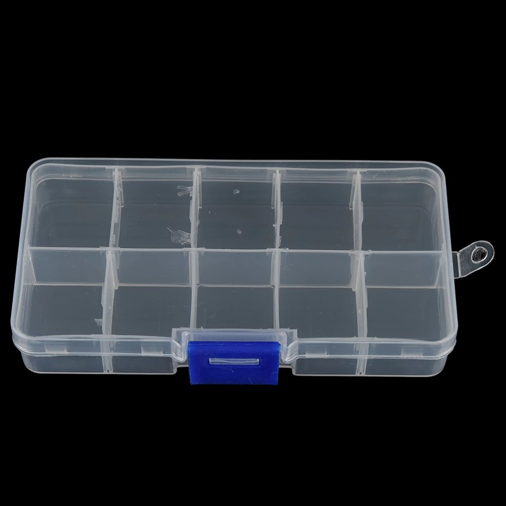 Transparent 10 Compartment Plastic Fishing Tackle Box 13X7X2cm  Cabral Outdoors Tackle Box zaifish.myshopify.com Cabral Outdoors