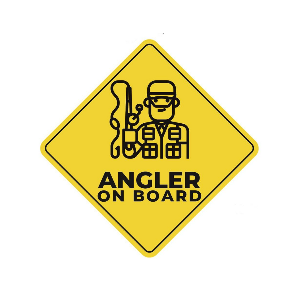 Angler On Board! Stickers | Size: Small, Medium Big and Large - Cabral Outdoors