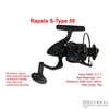 Rapala S-Type 50 and S-Type 40 Spinning Reel, SPINNING REELS, Rapala, Cabral Outdoors - Cabral Outdoors