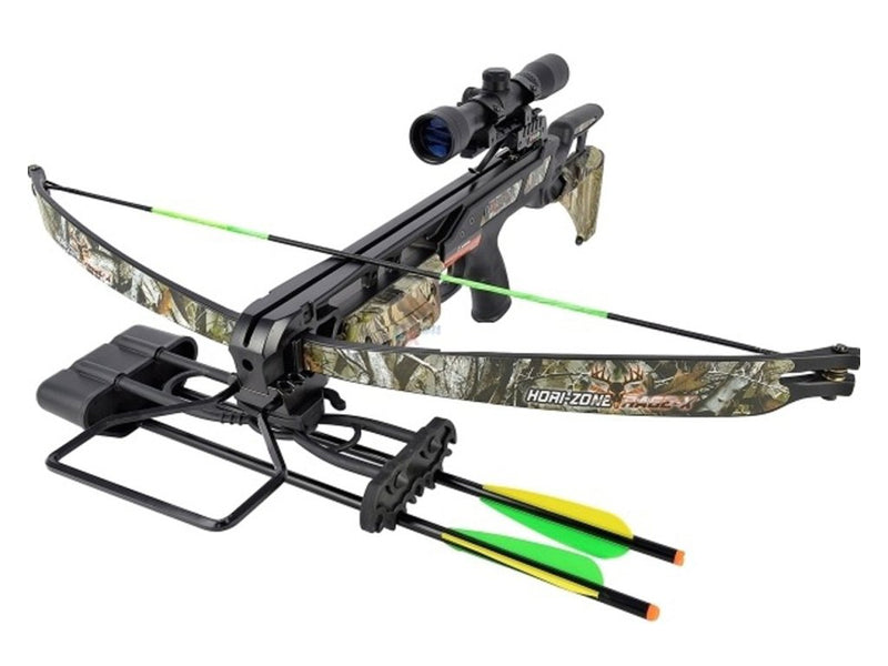 Hori-Zone Rage-X Deluxe 175 Lbs Reflective Crossbow, Crossbow, Rage, Cabral Outdoors - Cabral Outdoors