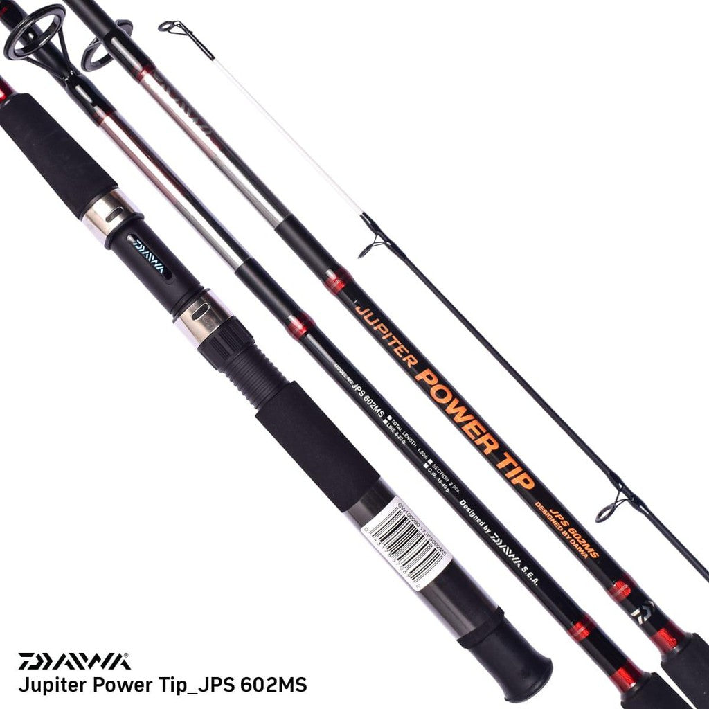 Daiwa Jupiter Power Tip Matt Black 7ft -10ft Spinning  Fishing Rod - Cabral Outdoors