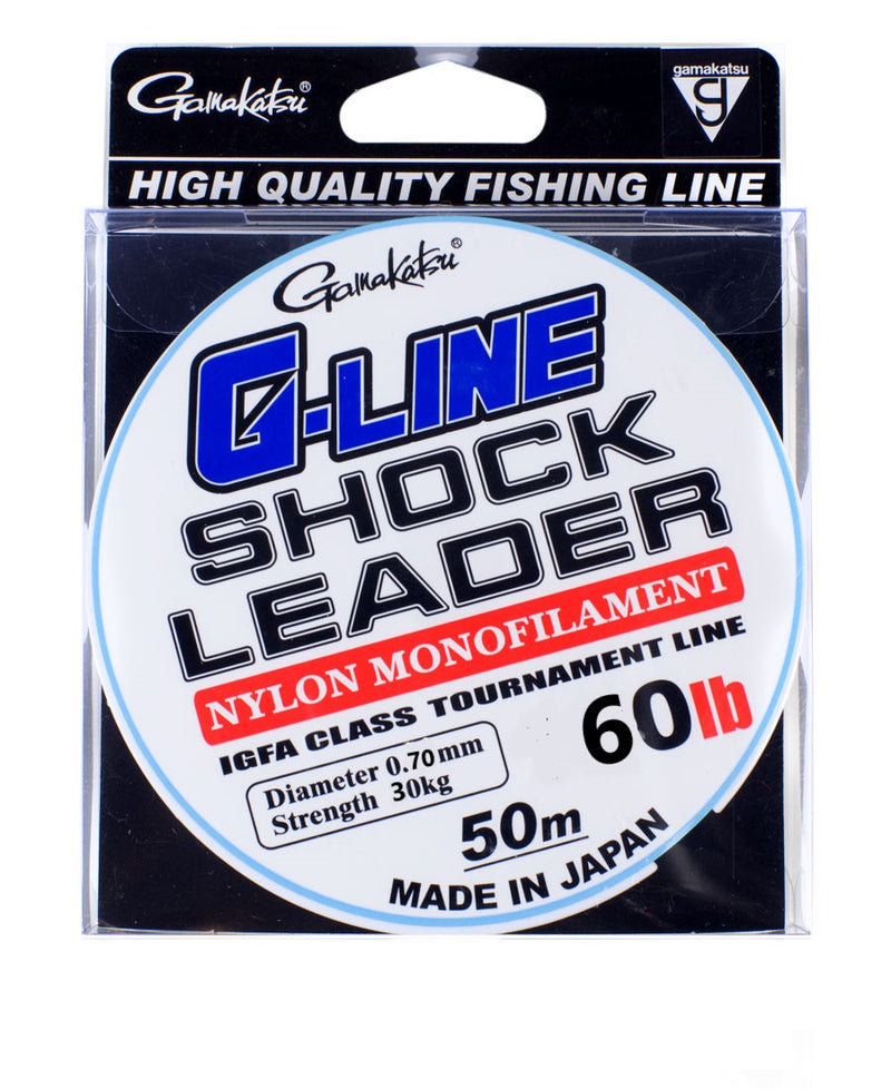Gamakatsu G-Line Shock Leader 50M | 0.77mm |30kg/60lb  Gamakatsu Monofilament Leader zaifish.myshopify.com Cabral Outdoors