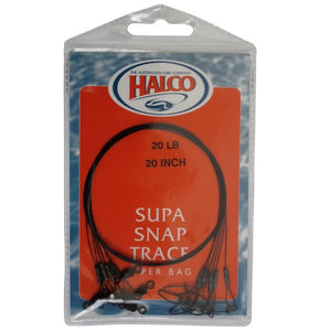 HALCO SUPA SNAP TRACE 20 inch/ 30LB, Leader, Halco, Cabral Outdoors - Cabral Outdoors