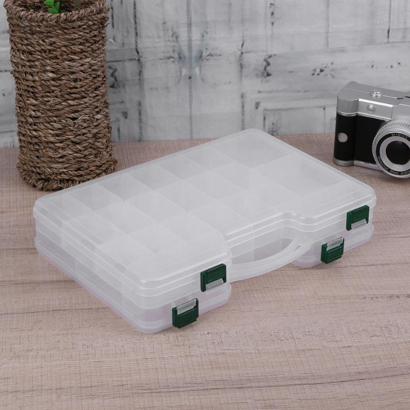 Double-Layers 44 Compartment Large Capacity Fishing Tackle Box
