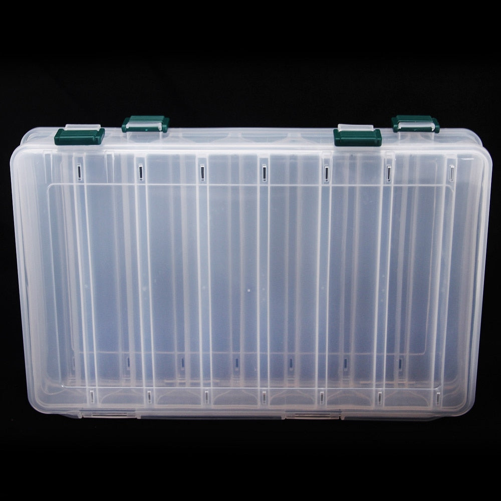 Double Sided 14 Compartments Plastic Fishing Tackle Box  Cabral Outdoors Tackle Box zaifish.myshopify.com Cabral Outdoors