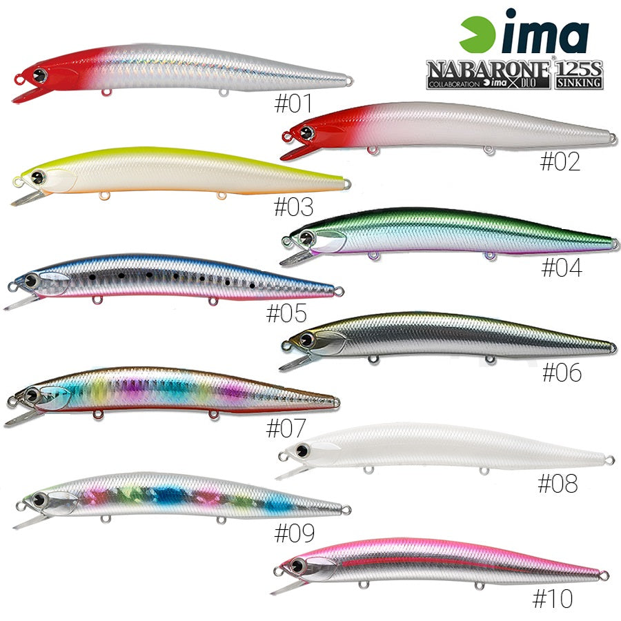 IMA Nabarone 125S Sinking Depth 0.6-1.2mtr |  17.5g, Hard Baits, IMA, Cabral Outdoors - Cabral Outdoors