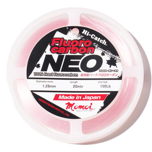 Momoi Hi-Catch Neo Fluoro Carbon Leader 20mtr | 40lb-80lb | 0.62mm-0.91mm | Pink, Fluoro Carbon, Momoi, Cabral Outdoors - Cabral Outdoors