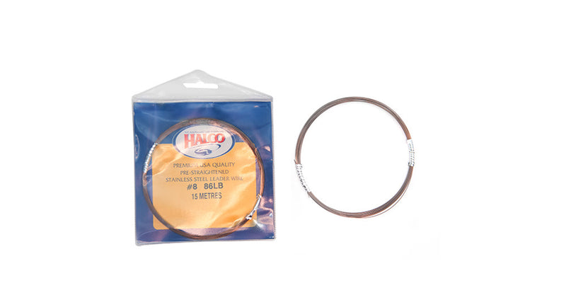 Halco Pre Straightened Stainless Steel Single Strand Wire 15M, Leader, Halco, Cabral Outdoors - Cabral Outdoors