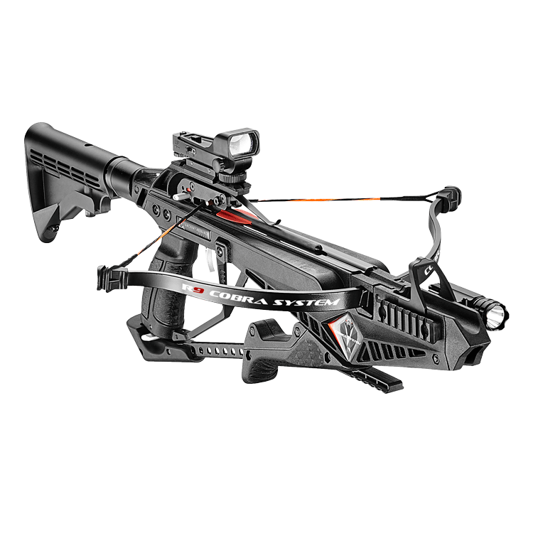EK ARCHERY COBRA SYSTEM R9 CROSSBOW RIFLE BLACK DELUXE, Crossbow, EK ARCHERY, Cabral Outdoors - Cabral Outdoors