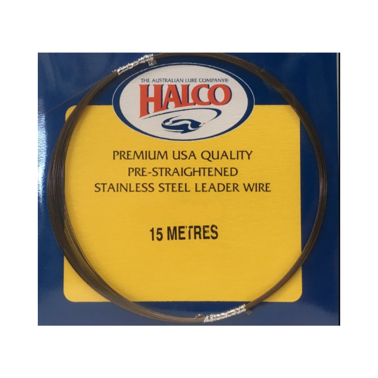 Halco Pre Straightened Stainless Steel Single Strand Wire 15M - Cabral Outdoors