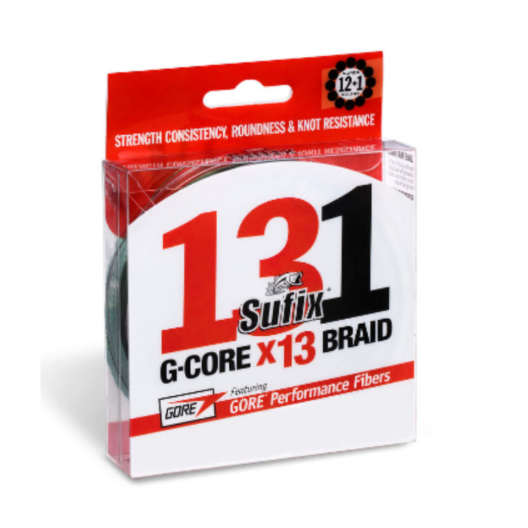 Sufix G-Core x13 150 M Braid line | 0.205mm, 0.235mm, and 0.285mm - Cabral Outdoors