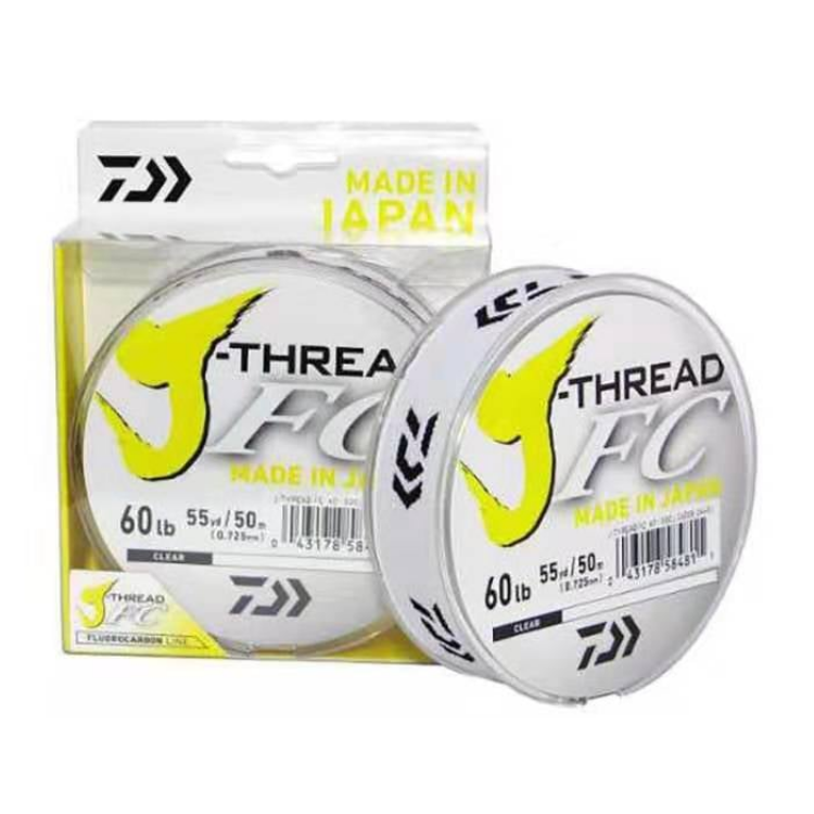 Daiwa J-Thread FC Fluorocarbon Leader Line 60LBS - Cabral Outdoors