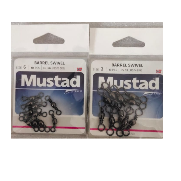 Mustad Barrel Swivel | Size: 2 and 6 - Cabral Outdoors