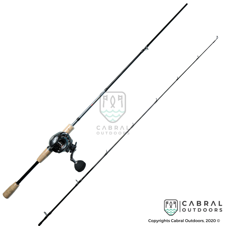 Pro Marine Wonder Bass DX 6ft Bait Casting Rod With Pro Marine Ricardo Bait Casting Reel Combo - Cabral Outdoors
