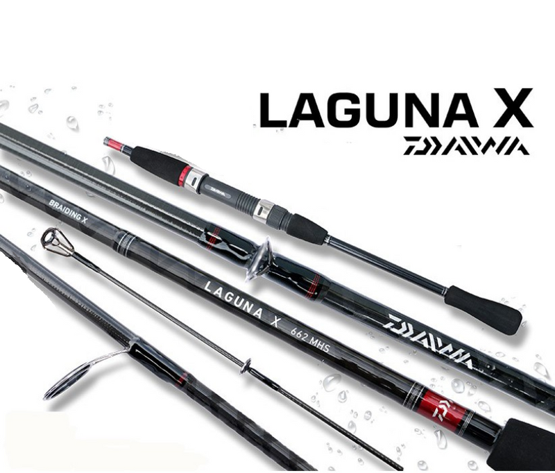 Daiwa Laguna X 6.6ft Spinning Rod, Spinning Rods, Daiwa, Cabral Outdoors - Cabral Outdoors