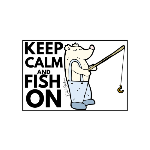 Keep Calm and Fish On! 2 Stickers - Cabral Outdoors
