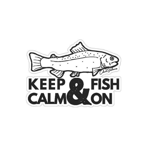 Keep Calm and Fish On!, stickers, Cabral Outdoors, Cabral Outdoors - Cabral Outdoors