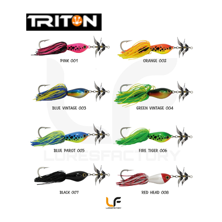 Triton Monster Jr. 13cm/15.5g, 1pcs/pkt, Frog, Lures Factory, Cabral Outdoors - Cabral Outdoors
