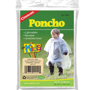 Coghlan's Kid's Poncho Size 30'x40' | 76cm x 102cm - Cabral Outdoors