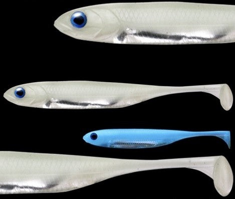 "Fish Arrow Flash-J Shad original Soft baits 4"" sw, LumiNova #L145 Blue LumiNova/Silver Fish Arrow Soft Bait zaifish.myshopify.com Cabral Outdoors"