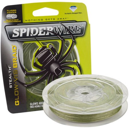 SpiderWire Stealth Glow-Vis Braid Fishing Line 114M/125YD, Braided Line, Spider Wire, Cabral Outdoors - Cabral Outdoors