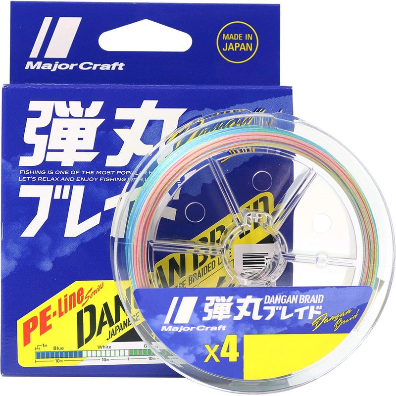 Major Craft Dangan x4 Braided Fishing Line Multicolour 150m-200m, Braided Line, Major Craft, Cabral Outdoors - Cabral Outdoors