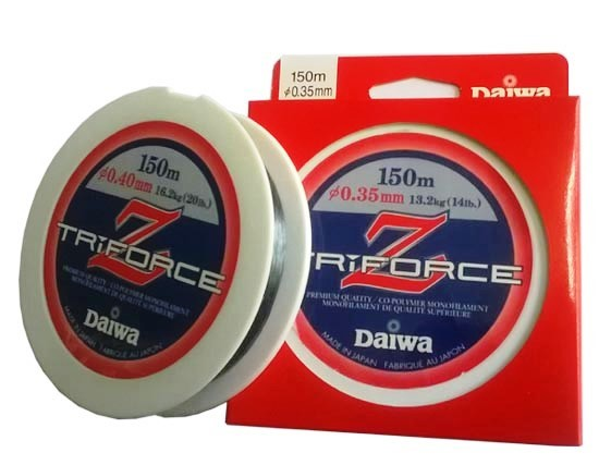 Daiwa New Triforce Z Monofilament Lines 150M | 17LB-20LB 20LB Daiwa Monofilament Line zaifish.myshopify.com Cabral Outdoors