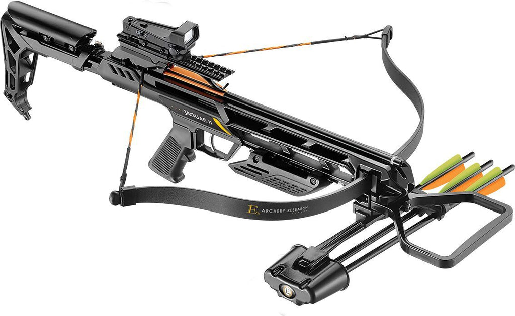EK ARCHERY JAGUAR II CROSSBOW RIFLE, BLACK STOCK, 175LB, 260FPS, Crossbow, EK ARCHERY, Cabral Outdoors - Cabral Outdoors