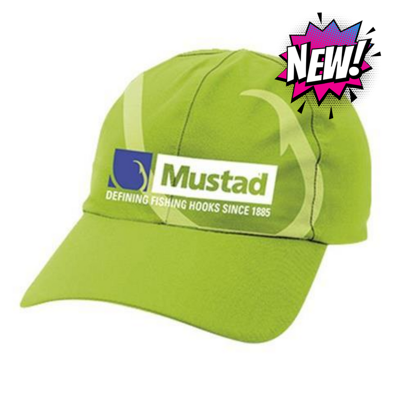 Mustad Microfiber Cap, Green, One Size, Clothing, Mustad, Cabral Outdoors - Cabral Outdoors