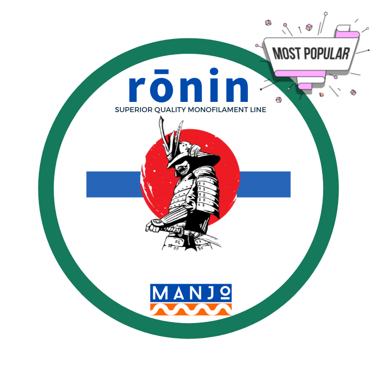 MANJO RONIN Superior Quality Monofilament Line 40mm-80mm, Monofilament Line, MANJO, Cabral Outdoors - Cabral Outdoors