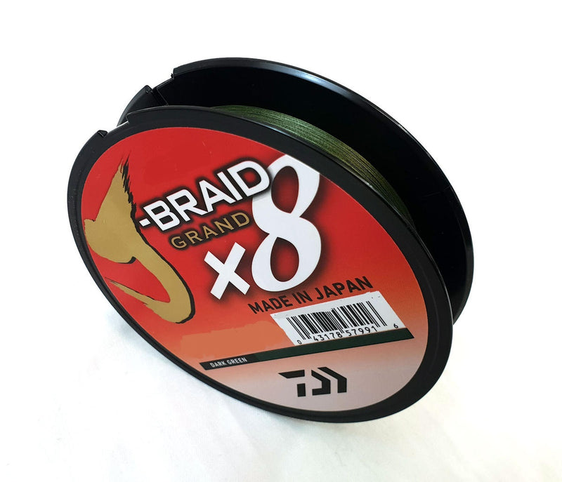 DAIWA J-BRAID Grand X8 Dark Green 135M | 0.41mm | 65lb | 150yd  Daiwa Braided Line zaifish.myshopify.com Cabral Outdoors