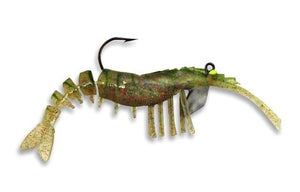 Original Vudu Shrimp 3.25 inch 1/4 OZ JIG PRE-RIGGED 2 PER PACK, Soft Bait, Vudu, Cabral Outdoors - Cabral Outdoors