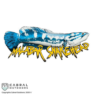 Malabar Snakehead Sticker | 4inch, stickers, Cabral Outdoors, Cabral Outdoors - Cabral Outdoors