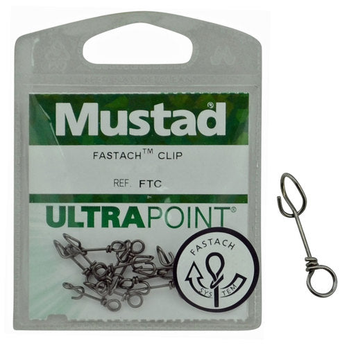 Mustad Ultrapoint Fastach Clip, Swivel, Mustad, Cabral Outdoors - Cabral Outdoors