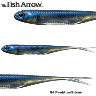 "Fish Arrow Flash-J Split Tail Finesse Soft Bait Lure 4"", 6pcs/pkt 04 Pro Blue / Silver Fish Arrow Soft Bait zaifish.myshopify.com Cabral Outdoors"