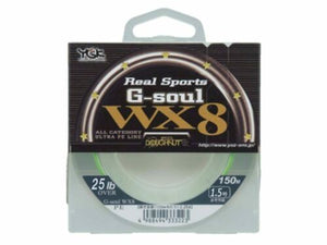 YGK Real Sports G-soul WX8  PE Braided line | 25lb | 150m japan, Braided Line, YGK, Cabral Outdoors - Cabral Outdoors