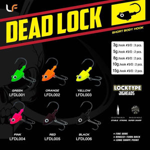 Lure Factory Locktype Jighead Dead Lock, Size 3/0 | 15g | 2 per pack, Hooks, Lures Factory, Cabral Outdoors - Cabral Outdoors