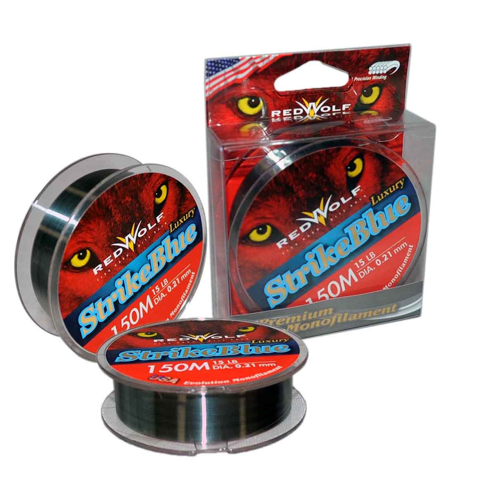 Red Wolf Strike Blue Monofilament Fishing Line 150M, Monofilament Line, Red Wolf, Cabral Outdoors - Cabral Outdoors
