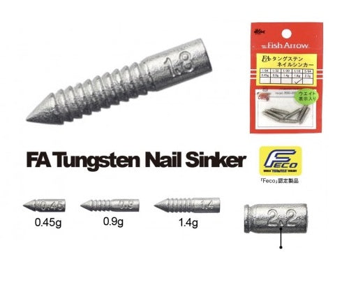 Fish Arrow FA Tungsten Nail Sinker Feco 0.45g - Cabral Outdoors