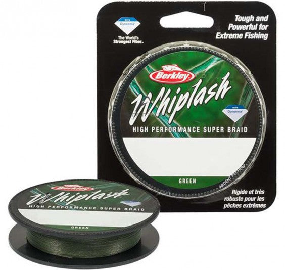 Berkley Whiplash 40lb-80lb |110m Green Braid  Berkley Braided Line zaifish.myshopify.com Cabral Outdoors