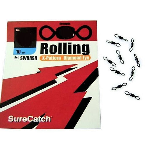 SURE CATCH ROLLING X-PATTERN DIAMOND EYE SWIVELS, Swivel, SURE CATCH, Cabral Outdoors - Cabral Outdoors