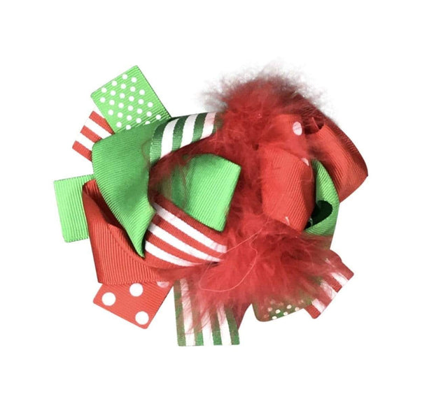 ILTEX Apparel Accessory Bow - Christmas Stripe