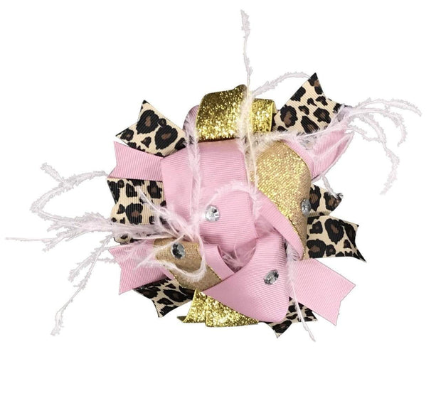 ILTEX Apparel Accessory Bow - Pink Gold Cheetah