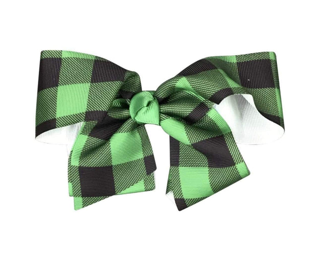 ILTEX Apparel Accessory Bow - Plaid Knot Green